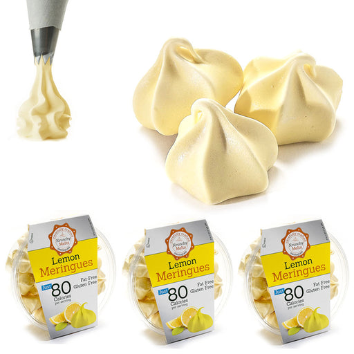 3 Boxes Lemon Meringues Cookies Gluten Fat Sugar Free Kosher Sweets Snacks Treat