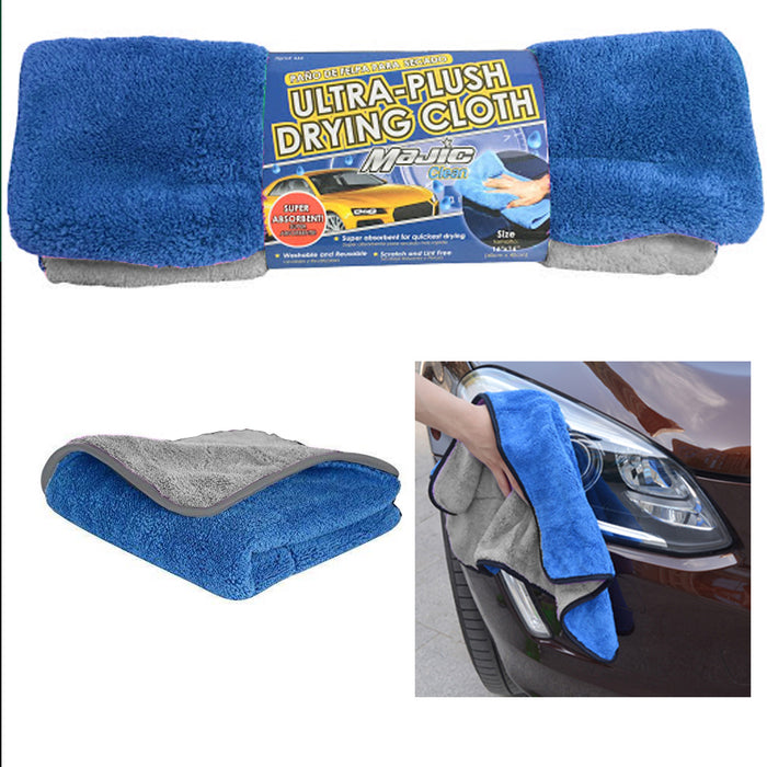 4 Pc Ultra Plush Drying Cloth Detail Wash Car Vehicle Washing Pad Cleaning Wipe
