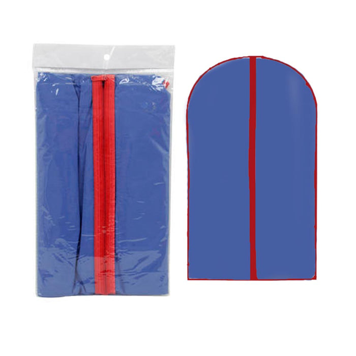"3X Blue Garment Bags 54"" X 23.75"" Suit Dress Jacket Cover Zipper Storage Travel"