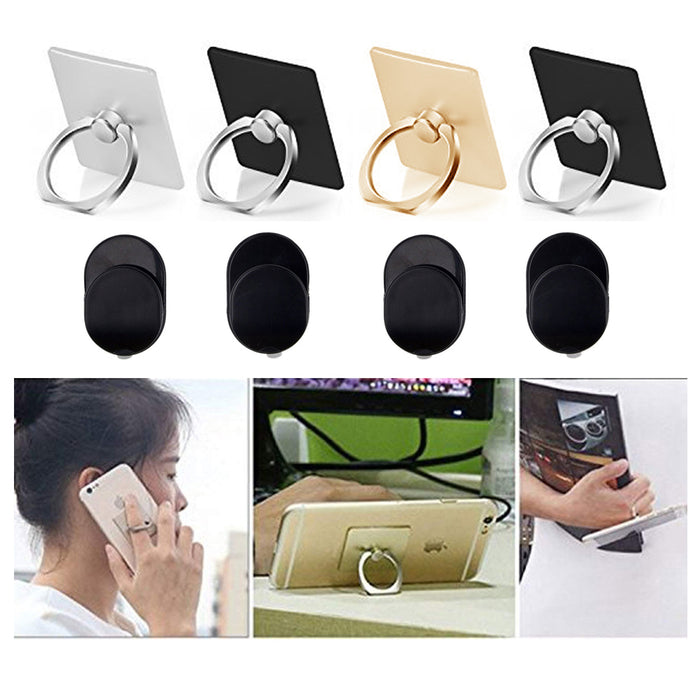 4 X Cell Phone Stand Finger Ring Mount Portable Collapsible Desk Folding Holder