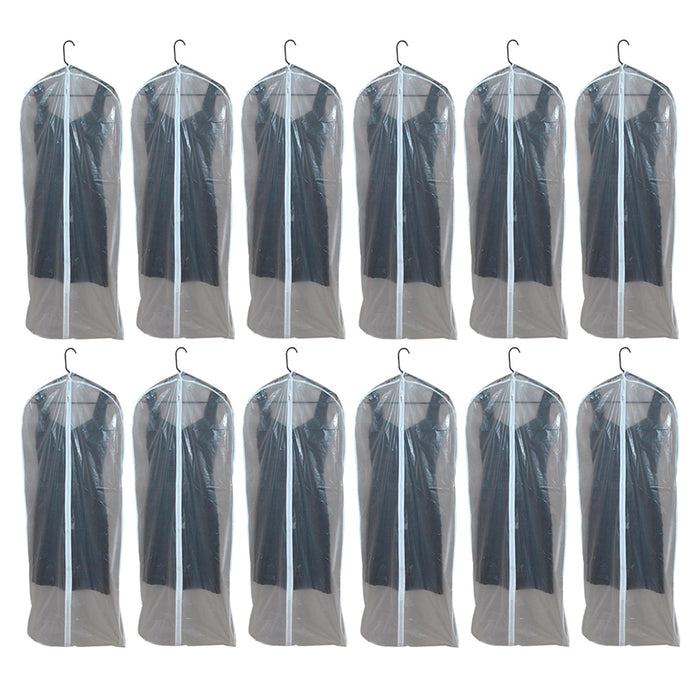 "12 Lot Dress Garment Storage Bag 53"" Protect Suit Cover Gown Storage Dust Travel"