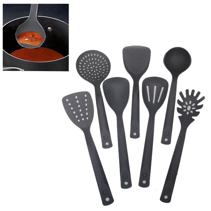 7 Serving Set Kitchen Cooking Utensil Tools Nylon Server Spatula Spoon Cookware