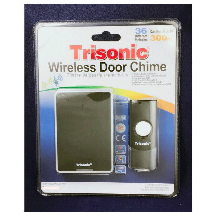 Wireless Door Bell Chime 100M 36 Chimes Music Melody Waterproof Remote Control