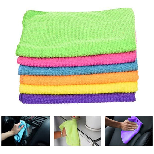 12 X Multi Purpose Microfiber Cloths Set Cleaning Rag Window Cleaner Towel Car