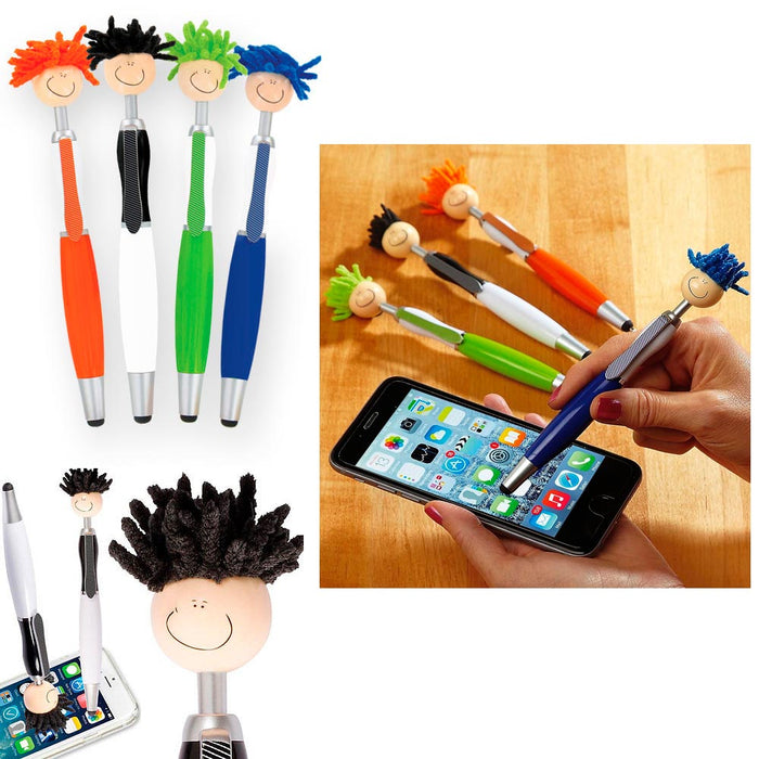 6 Pc Techie Tom 3-in-1 Stylus Pen Screen Duster Mop Topper Cleaner MopTopper