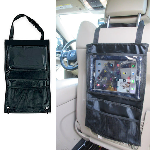 2 Black Auto Car Seat Back Tidy Organizer Hold Pocket Storage Bag Hanger Travel