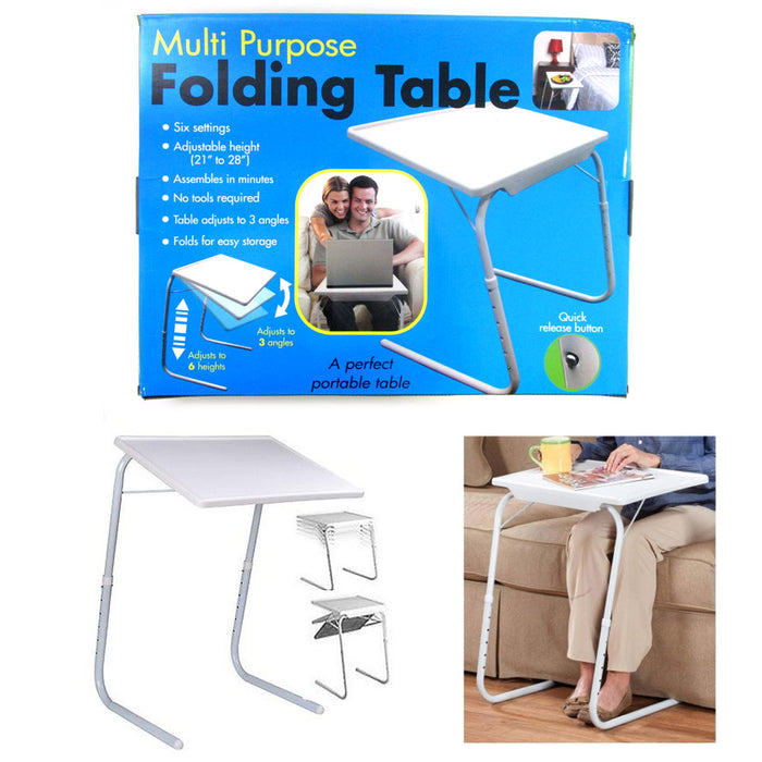Groovy Folding Table Adjustable Desk Tray Cup Holder Eat Work Foldable Under Sofa Bed Home Interior And Landscaping Ologienasavecom