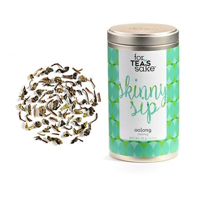 1 Skinny Herbal Blend Oolong Green Tea Medium Caffeine Loose Leaf 8 Oz Non-GMO