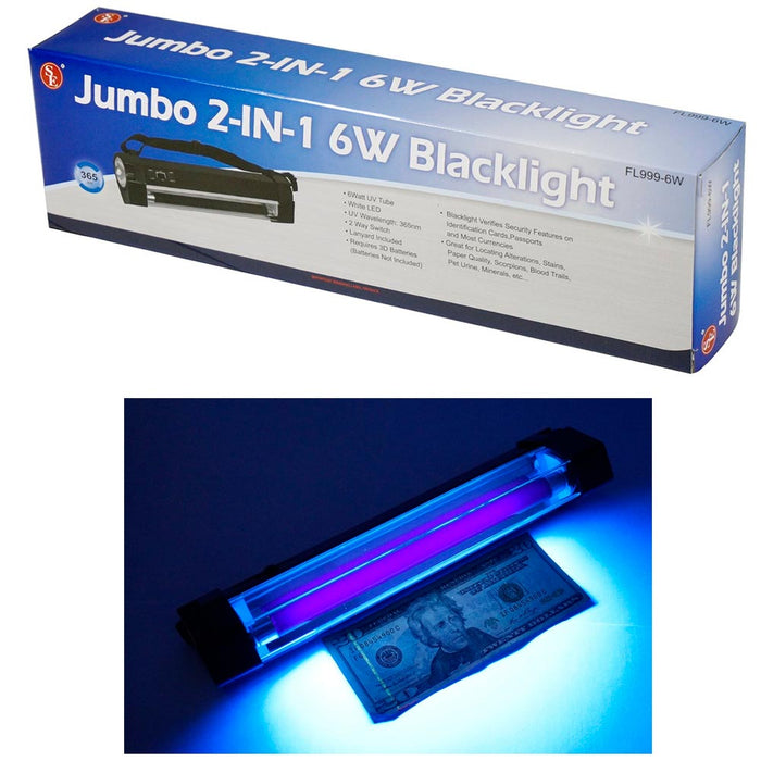 Blacklight Black Light UV Counterfeit Bill Currency Detector Battery Operated