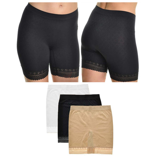 1 X Lace Trim Safety Shorts Women Lady Fashion Pants Legging Yoga Seamless Basic