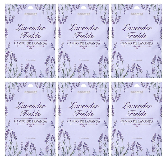 6 Pc Lavender Fields Scented Sachet Drawer Bags Large Fresh Scent Air Freshener