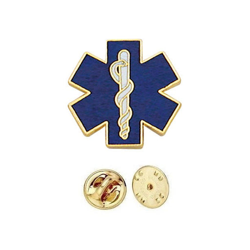 Blue Star of Life Lapel Pins Rescue Jacket Paramedic EMS EMT Emergency Medical