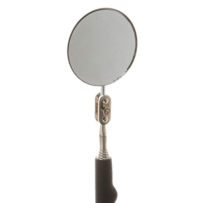 "2 X Round Inspection Mirror 2"" Telescoping Handle 23"" Cushion Grip Tool Set"