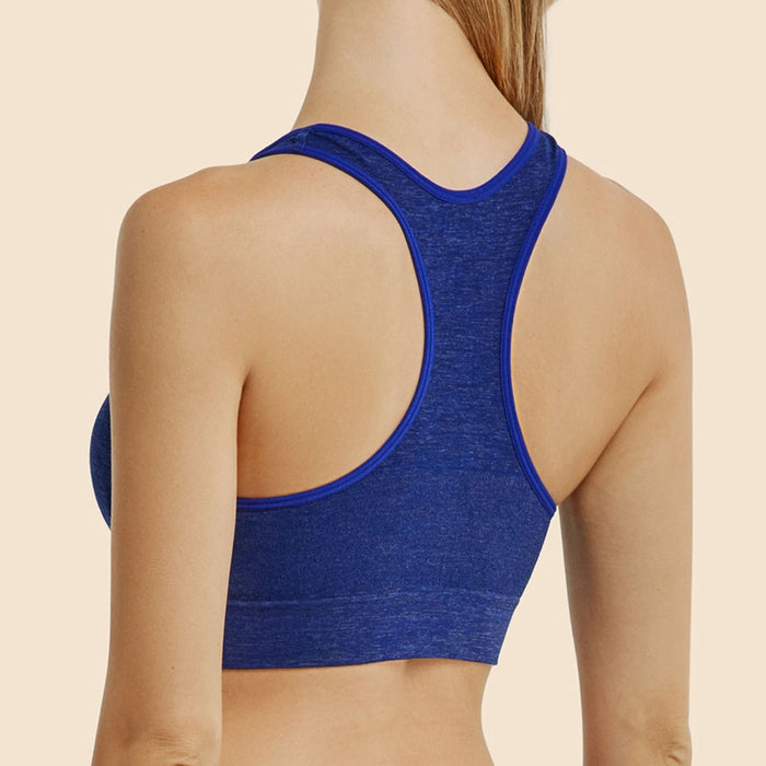 6 Pc Seamless Sports Bra Fitness Stretch Workout Yoga Racerback Padded Womens