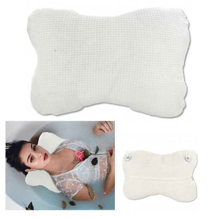 1 X Soft Cloth Bath Pillow Spa Hot Tub Soft Support Neck Relax Lounge Cushion