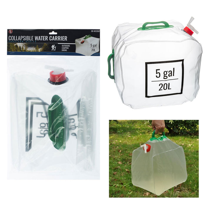 Collapsible Water Carrier Storage Container Camping Hiking Climbing Travel 20L