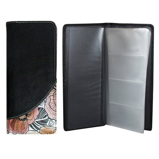 2 X Business Card Holder 64 Removable Organizer Book Wallet Case Office Black