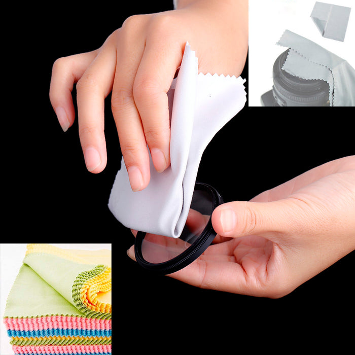 3 Cleaning Cloths OptiCloth Microfiber Optical Glasses Lens Towel Car Camera LCD