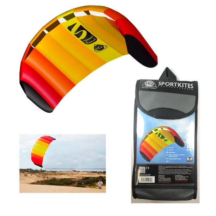 HQ Trainer Kite Power Sport 1.3 Control Bar Symphony Meters Kiteboarding Mango