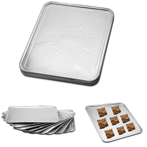"20-Pack Disposable Aluminum Liner 18"" X 15"" Foil Oven Tray Baking Sheet Pan Heat"
