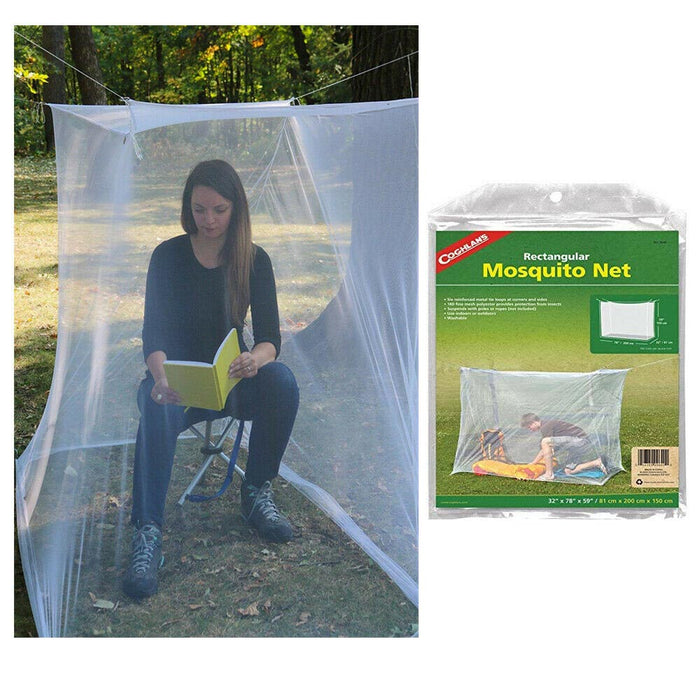 2 Mosquito Camping Net Insect Tent White Bugs Cover Indoor Outdoor Camp Portable