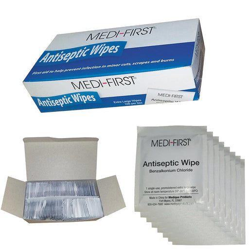1 Pack Antiseptic Wet Wipes 100 Count First Aid Cleaning Towelettes Travel Size