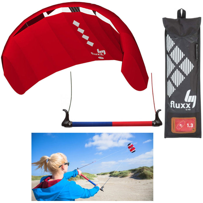 HQ4 Fluxx 1.3 R2F Trainer Kite Kiteboarding Power Surf Kitesurf Beach Beginner