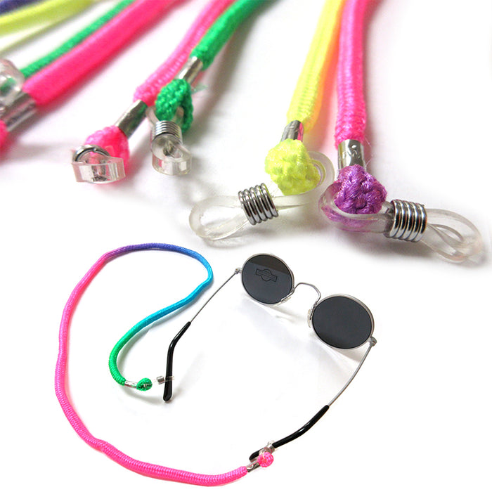 2pc Neon Colors Braided Lanyard Sunglasses Glasses Eyewear Nylon Retainer Straps