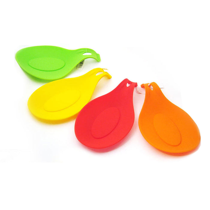 3 Silicone Spoon Rest Heat Resistant Kitchen Utensil Spatula Holder Cooking Tool
