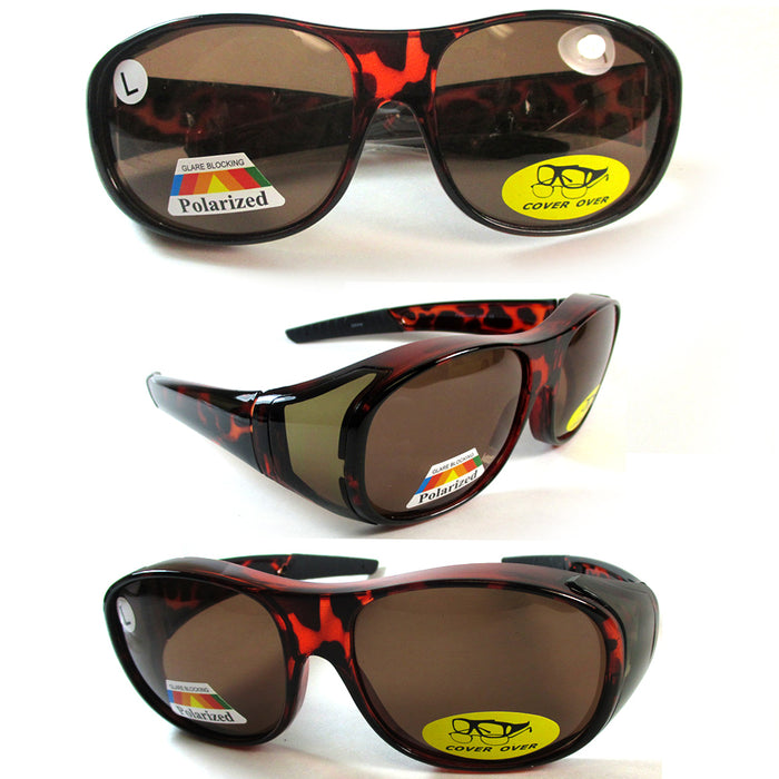 Polarized Sunglasses Cover Over Frame Driving Glass Solar Shield Lens Drive Fish