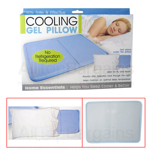 15 X Cooling Gel Insert Pillow Sooth Soft Comfort Pad Device Resting Sleeping