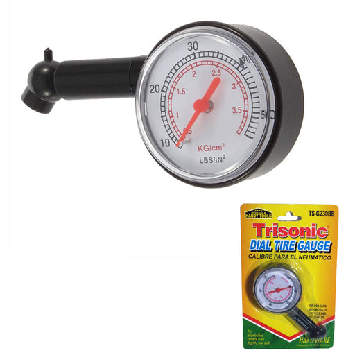 Tire Air Pressure Gauge 10-50 PSI Truck Auto Car Bicycle Tyre Tester Dial Meter