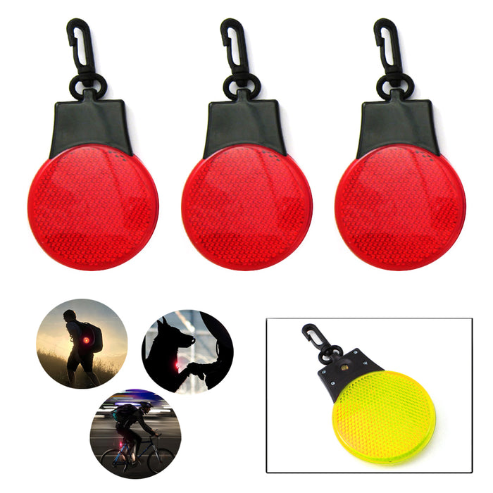 3 Safety Light Keychains Runner Dogs Night Walk 3 Flash Modes Batteries Included