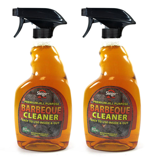 2 Pack BBQ Grill Grate Powerful Cleaner 24 oz Spray Bottle Non Toxic Degreaser