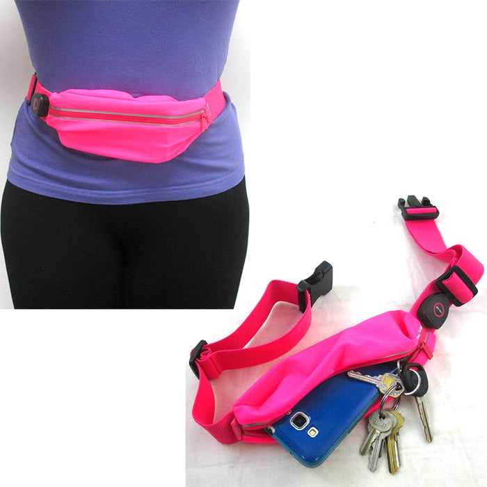 1 Fanny Pack LED Reflective FitZip Illuminating Light Sport Run Running Belt