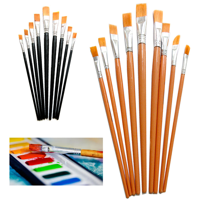 18 Pc Artist Paint Brush Set Assorted Watercolor Acrylic Painting Brushes Crafts