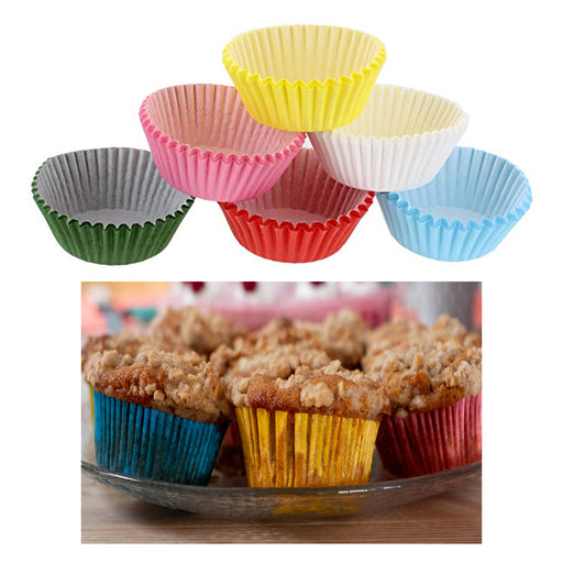 400 Pc Colorful Paper Baking Cups Cupcake Liners Muffin Mini Cake Mold Assorted