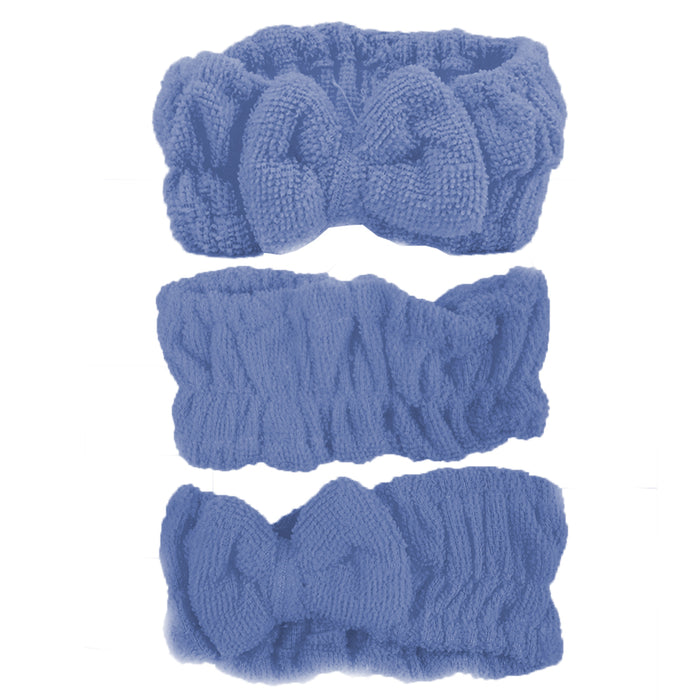 3 Pc Microfiber Shower Headband Wash face Bath Spa Hair Wrap Makeup Rest Bath
