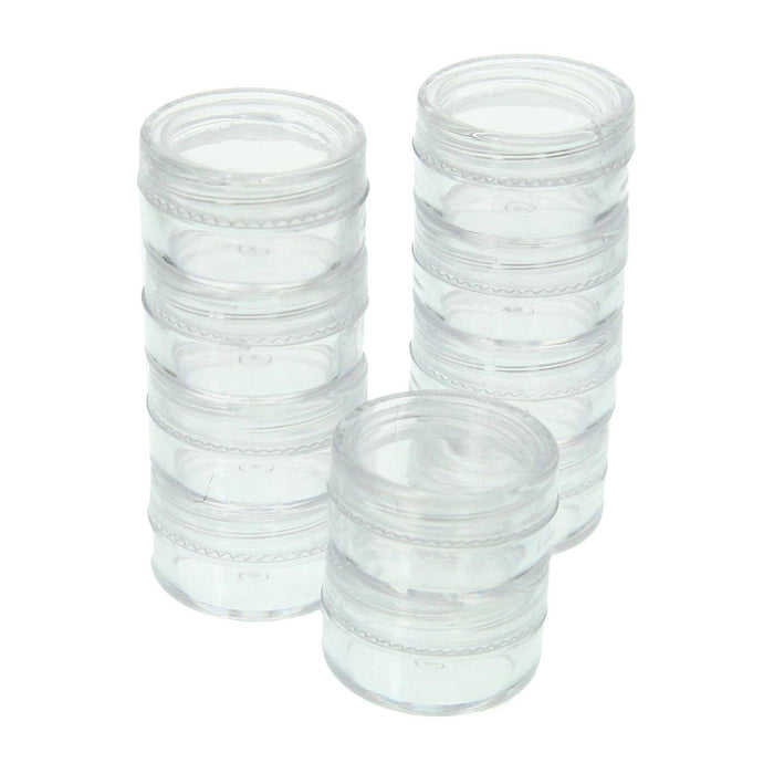 10 Clear Empty Containers Jars Cosmetic Pot Small Travel Sample Cream Makeup Jar