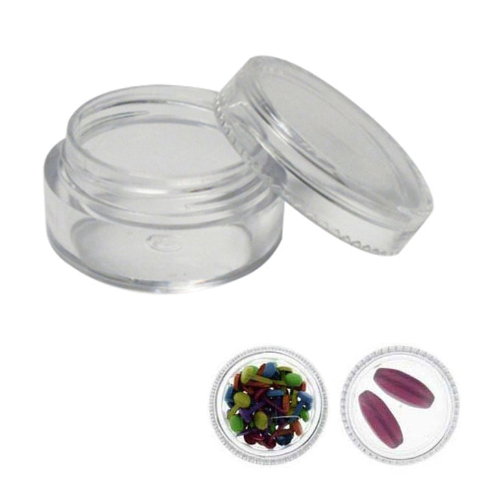 20 Pcs Clear Balm Cosmetic Jars Screw-On Lids Makeup Empty Plastic Container Pot