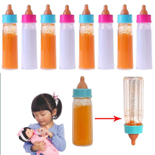 8 Pc Baby Dolls Feeding Bottle Magic Set Disappearing Milk Pretend Play Toy