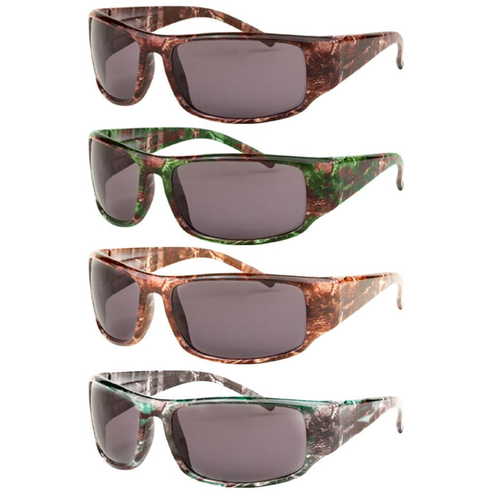 1Pc Mens Sunglasses Military Army Camouflage Camo Wrap Sports Hunting Shade Lens