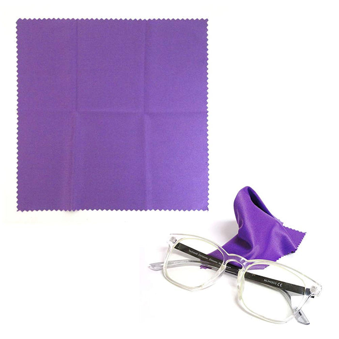 "50PC Microfiber Cleaning Cloths Set Eco Friendly 7""X7"" Eyeglasses Cleaning Cloth"