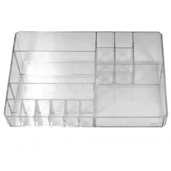 1 Large Clear Cosmetic Organizer Case Storage Jewelry Makeup Holder Box Vanity