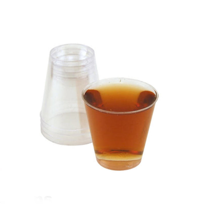 50 Clear Shot Glasses 2 oz Hard Plastic Disposable Cups Wine Party Catering Bar