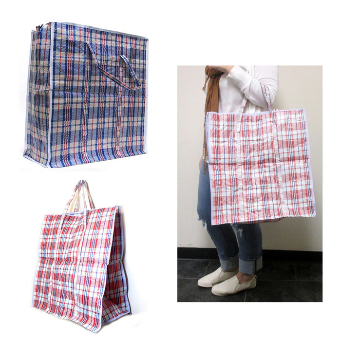 Large Tote Storage Bag Reusable Shopping Groceries Laundry Organizing Zipper Bag