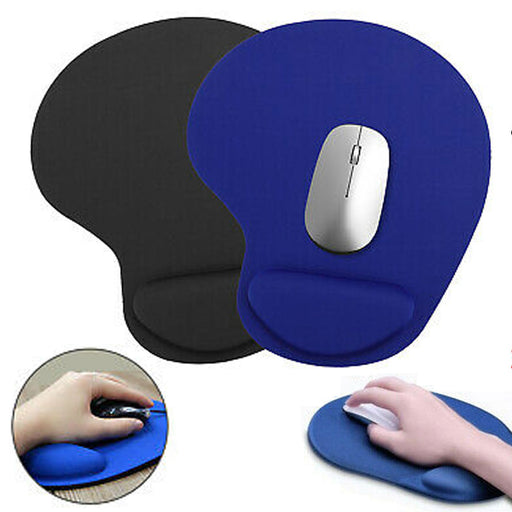 1 Ergonomic Comfortable Mouse Pad Mat W/ Wrist Rest Support Non Slip PC Mousepad