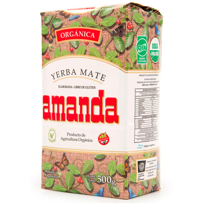 Yerba Mate Amanda Organica 1/2 KG Argentina Tea Loose Herbal Bag 1.10 lb Detox