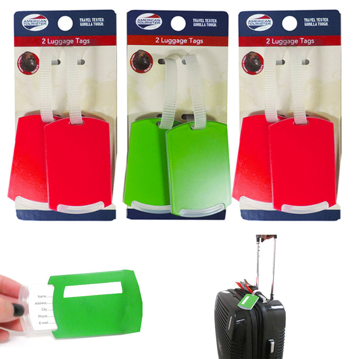 6 Pc Waterproof Luggage Bag Tags Travel Suitcase Baggage ID Label Name Address
