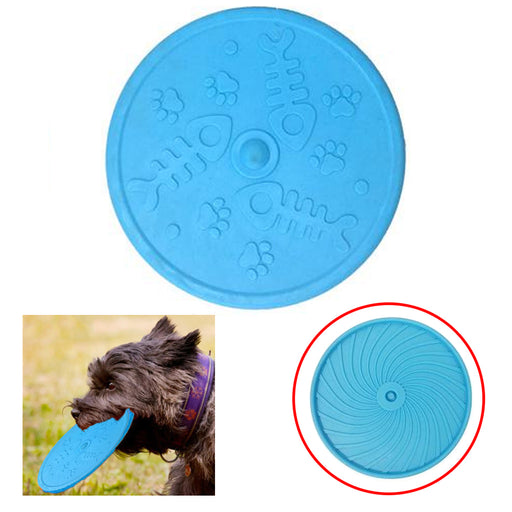 2pc Blue Flexible Flying Disc  Dog Toy Sport Pet Park Outdoor Play Camping Beach